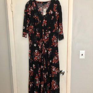 Torrid Black Maxi Floral Dress